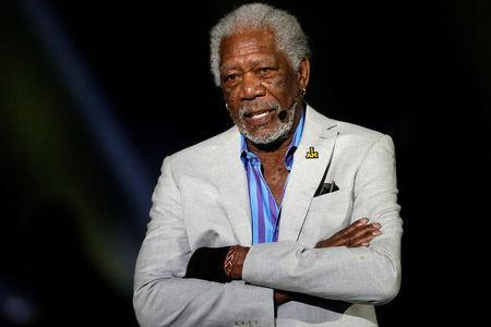 FILE PHOTO: Actor Morgan Freeman takes part in the opening ceremonies of the Invictus Games in Orlando Florida, U.S., May 8, 2016. REUTERS/Carlo Allegri/File Photo