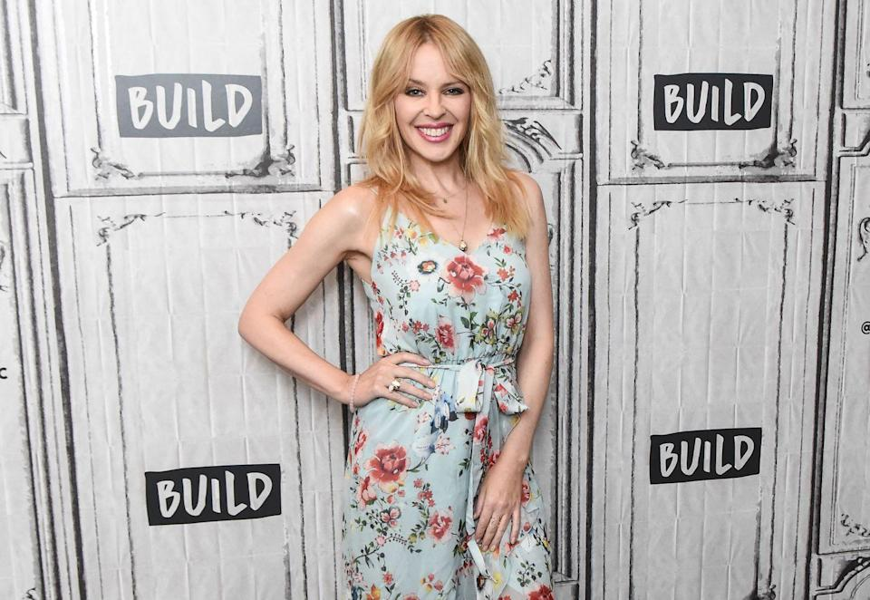 """<p>Minogue, an Australian-British singer, was diagnosed with breast cancer while on tour in 2005. At an event with the <a href=""""https://www.youtube.com/watch?v=_d3hEL6qyWg"""" rel=""""nofollow noopener"""" target=""""_blank"""" data-ylk=""""slk:Women's Cancer Research Fund"""" class=""""link rapid-noclick-resp"""">Women's Cancer Research Fund</a>, she shared advice for those recently diagnosed: """"You can't be positive all the time. So I say, when you are feeling down, when you are having a moment, allow yourself to do that"""" </p>"""