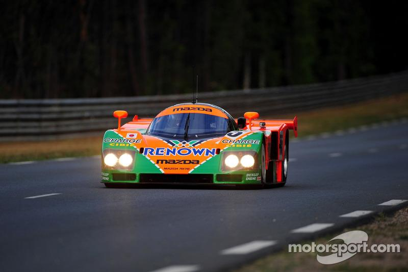 Patrick Dempsey drivers the Mazda 787B for the 20th anniversary of Mazda's win