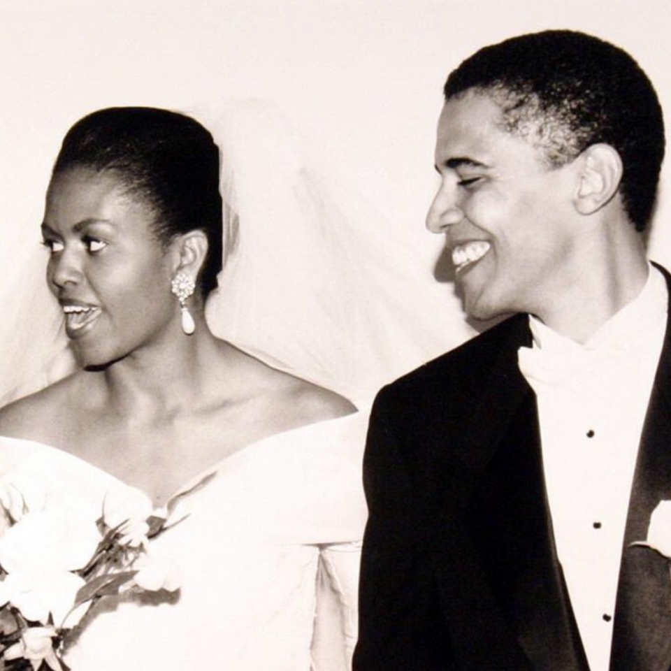 <p>The couple got married in 1992 after meeting three years earlier in 1989. <em>[Photo: Michelle Obama/ Instagram]</em> </p>