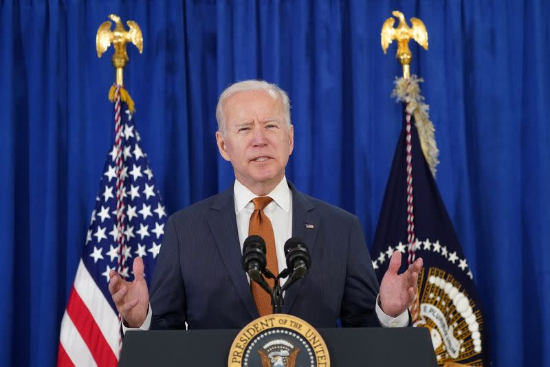 U.S. President Biden comments on the May jobs report in Rehoboth Beach, Delaware