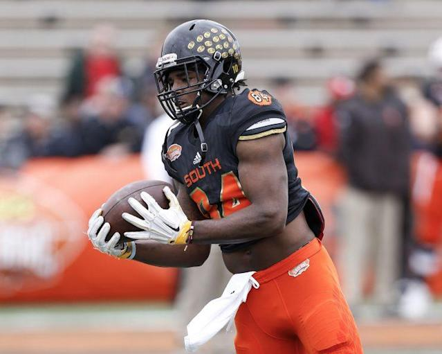 Chad Williams was unafraid to mix it up at the Senior Bowl. (Getty Images)