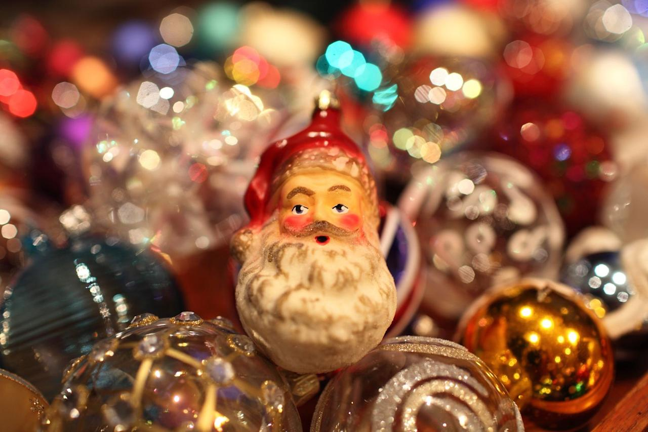 """<p>The <a href=""""https://christmashq.com/decorations/ornaments/"""" target=""""_blank"""">first Christmas ornaments</a> sold commercially were made by a German manufacturer in the 19th century. Today, the heavy, glass-blown ornaments known as """"kugels"""" can fetch anywhere from $50 to more than $1,000. Identify them by their vibrant colors and fruit shapes, like apples and berries.</p>"""