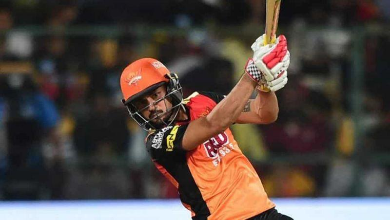 Manish Pandey in action for Sunrisers Hyderabad