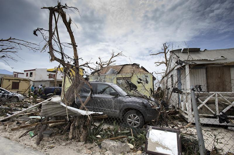 Damage caused by Hurricane Irma has it swept through the Dutch side of St Martin: Dutch Department of Defense