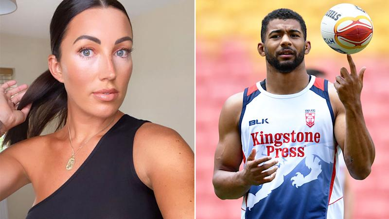 Pictured here, rugby league star Kallum Watkins and his wife Sophie.