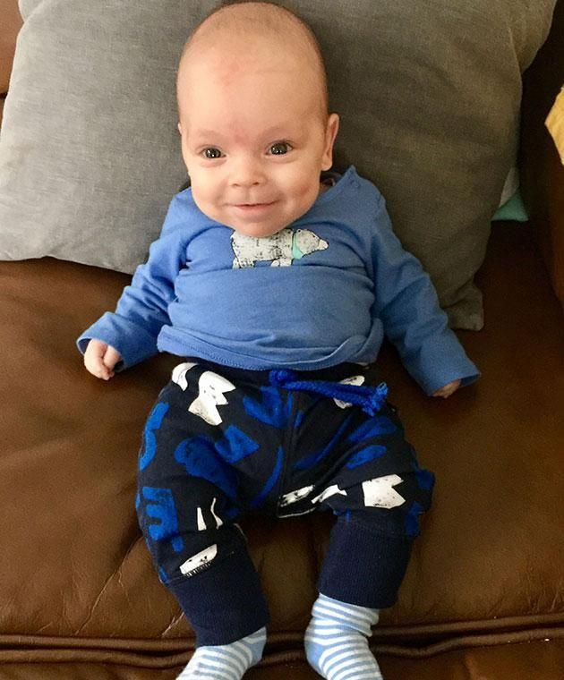 Jenson is now seven months old and recovering well. Photo: Caters News