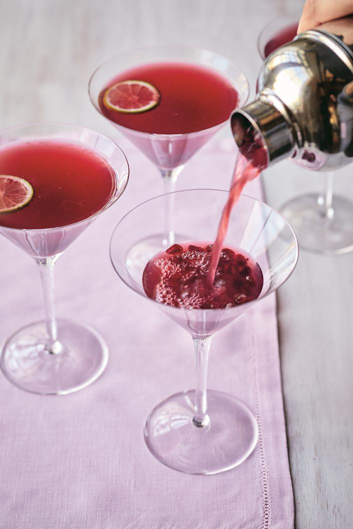 Cheers with a pomegranate gimlet.
