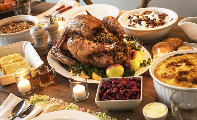 Thanksgiving dinner. (Photo: Getty Images)