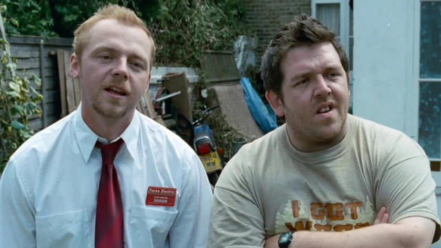 Simon Pegg and Nick Frost in 2004 comedy 'Shaun of the Dead'. (Credit: StudioCanal)
