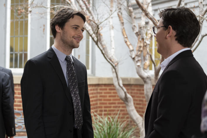 """Buck Andrews and Ryan O'Connell in Netflix's 'Special'<span class=""""copyright"""">BETH DUBBER/NETFLIX—© 2021 Netflix, Inc.</span>"""