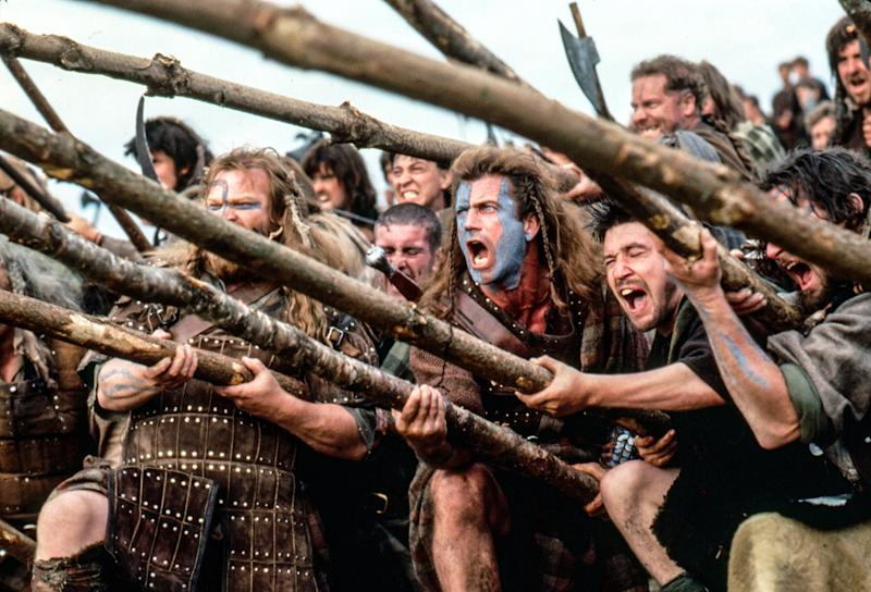 Mel Gibson directs and stars in the 1995 favorite 'Braveheart' (Photo: Andrew Cooper / TM and Copyright (c) 20th Century Fox Film Corp. All rights reserved. Courtesy: Everett Collection)