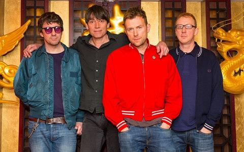 Blur (from left to right): Graham Coxon, Alex James, Damon Albarn, Dave Rowntree - Credit: getty