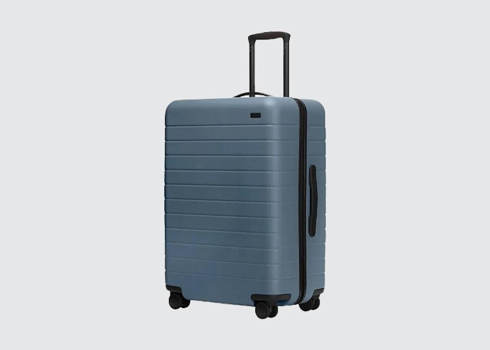 "<p>""My pick goes to <a href=""https://www.cntraveler.com/story/aways-beach-inspired-carry-on-is-the-only-luggage-we-want-this-summer?mbid=synd_yahoo_rss"" rel=""nofollow noopener"" target=""_blank"" data-ylk=""slk:Away"" class=""link rapid-noclick-resp"">Away</a>, though of course I'd love a <a href=""https://fave.co/2z3aCtu"" rel=""nofollow noopener"" target=""_blank"" data-ylk=""slk:Globe-Trotter suitcase"" class=""link rapid-noclick-resp"">Globe-Trotter suitcase</a>—they're so chic,"" says <a href=""https://www.cntraveler.com/story/cambridge-is-worth-more-than-just-a-day-trip-from-london?mbid=synd_yahoo_rss"" rel=""nofollow noopener"" target=""_blank"" data-ylk=""slk:Martin Brudnizki"" class=""link rapid-noclick-resp"">Martin Brudnizki</a>, founder of the eponymous design studio. The <a href=""https://www.cntraveler.com/destinations/new-york-city?mbid=synd_yahoo_rss"" rel=""nofollow noopener"" target=""_blank"" data-ylk=""slk:New York"" class=""link rapid-noclick-resp"">New York</a>-based luggage brand's high-profile collaborations, which have featured the likes of tennis player Serena Williams and photographer Gray Malin, keep its inventory feeling fresh and covetable.</p> <p><strong>Shop now:</strong> <a href=""https://fave.co/2ZKcwtV"" rel=""nofollow noopener"" target=""_blank"" data-ylk=""slk:awaytravel.com"" class=""link rapid-noclick-resp"">awaytravel.com</a></p>"