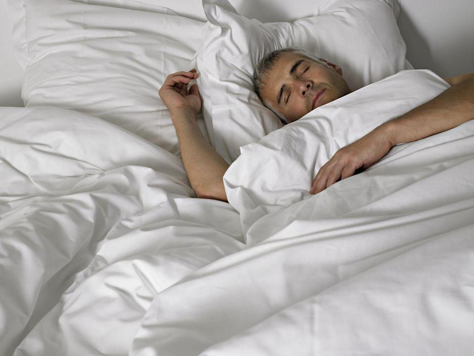 """<p>Making sure you're getting enough rest isn't always easy, but it is definitely something to strive for. <a href=""""https://pubmed.ncbi.nlm.nih.gov/27017287/"""" rel=""""nofollow noopener"""" target=""""_blank"""" data-ylk=""""slk:Research"""" class=""""link rapid-noclick-resp"""">Research</a> has shown that regularly getting less sleep than you're supposed to can actually increase your risk of Alzheimer's and dementia in general. Be sure to try to get eight hours each night instead of skimping on your sleep. <br></p>"""