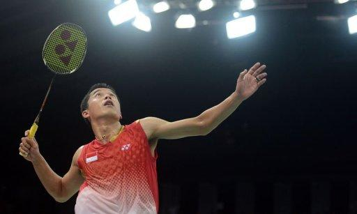 Indonesia's Taufik Hidayat prepares a shot against Czech Republic's Petr Koukal