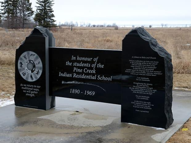 'As we return to our traditional ways, we will gather strength,' the monument plaque reads.