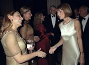<p><strong>The theme: </strong>Cubism and Fashion </p> <p><strong>The co-chairs: </strong>Miuccia Prada (pictured right, shaking co-chair Anna Wintour's hand), Paula Cussi and Pia Getty</p>