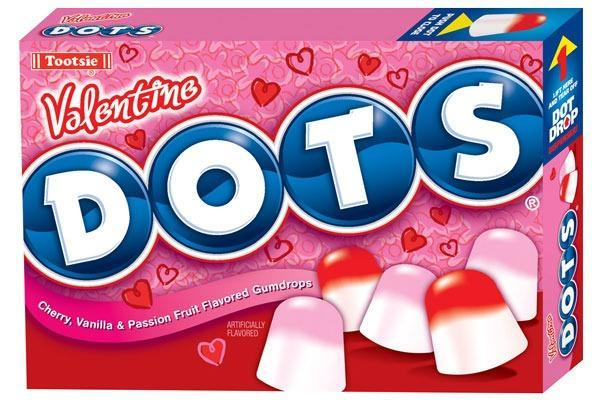 Valentines Candy Ranked dots