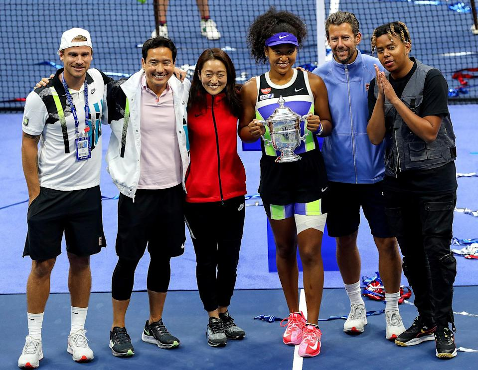 <p>Cordae stood by as Osaka won big at the 2020 U.S. Open at the USTA Billie Jean King National Tennis Center in N.Y.C.</p>