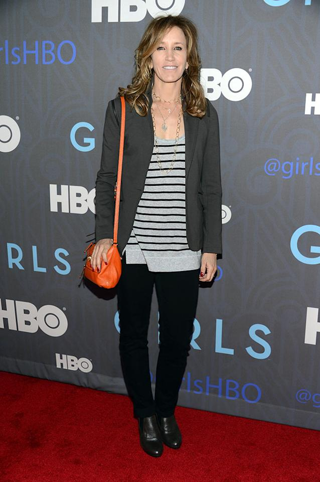 "Felicity Huffman attends HBO's premiere of ""Girls"" Season 2 at the NYU Skirball Center on January 9, 2013 in New York City."