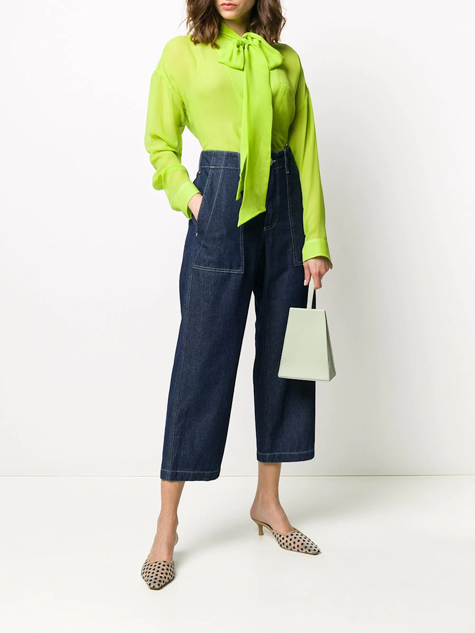 """<h2>Clean Denim</h2><br>""""In complicated times, it's nice when some things are simple. This year, the best denim comes in clean, fuss-free finishes — dark washes have an effortless polished feel that renders them a flexible staple.""""<br><br>-Celenie Seidel, Senior Womenswear Editor at FARFETCH<br><br><strong>Jejia</strong> Stiching-Detail Cropped Jeans, $, available at <a href=""""https://go.skimresources.com/?id=30283X879131&url=https%3A%2F%2Fwww.farfetch.com%2Fshopping%2Fwomen%2Fjejia-stiching-detail-cropped-jeans-item-15303089.aspx"""" rel=""""nofollow noopener"""" target=""""_blank"""" data-ylk=""""slk:Farfetch"""" class=""""link rapid-noclick-resp"""">Farfetch</a>"""