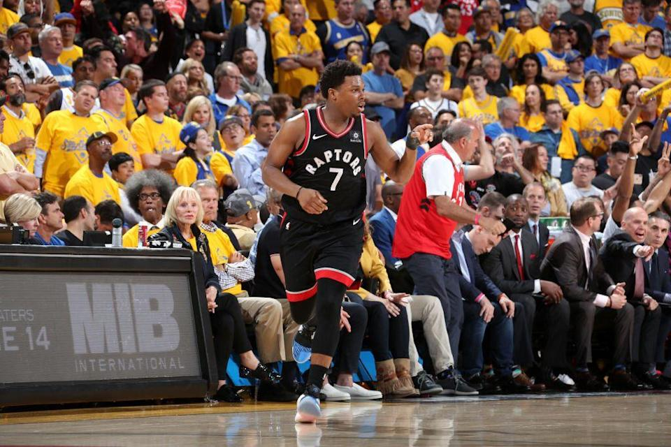 Toronto Raptors point guard Kyle Lowry set the winning pace in Game 3. (Getty Images)