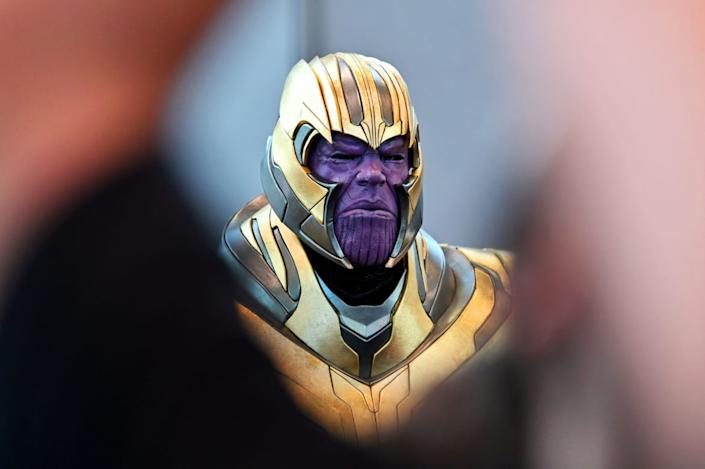 """<div class=""""inline-image__caption""""><p>A cosplayer dressed as Thanos attends New York Comic Con 2019 - Day 2 at Jacobs Javits Center on October 04, 2019 in New York City. </p></div> <div class=""""inline-image__credit"""">Dia Dipasupil/Getty</div>"""