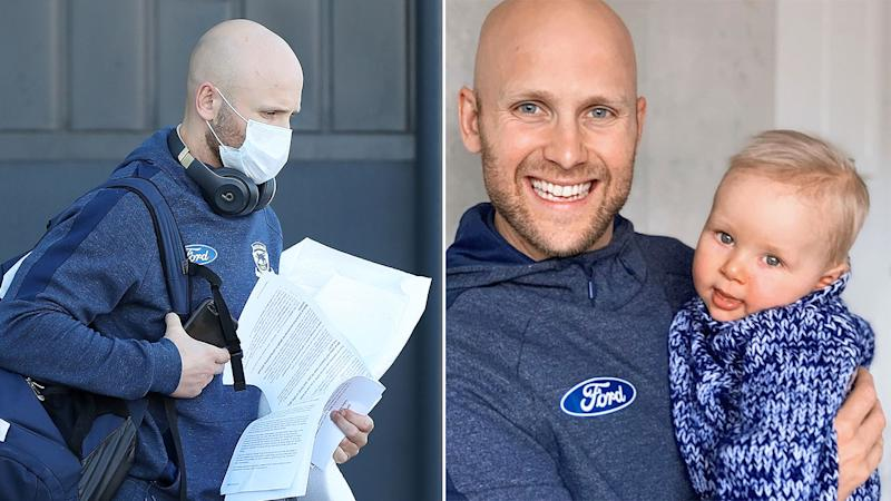 Seen here, Gary Ablett in Perth and wife his son Levi on the right.