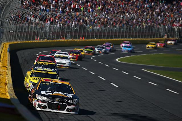 The fall race at Charlotte is now scheduled for Sunday for the first time since 2002. (Getty)