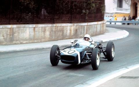 1961 Stirling Moss driving a Lotus 18 at Monaco GP 1st. (Photo by: GP Library/UIG via Getty Images) - Credit: Universal Images Group