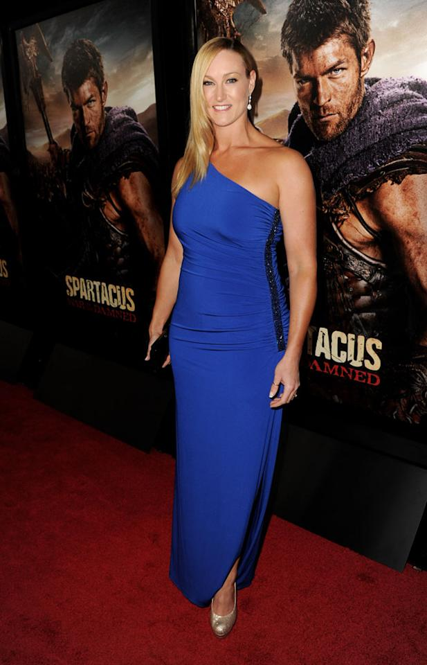 "Vanessa Cater attends the premiere of Starz's ""Spartacus: War of the Damned"" at Regal Cinemas L.A. Live on January 22, 2013 in Los Angeles, California."