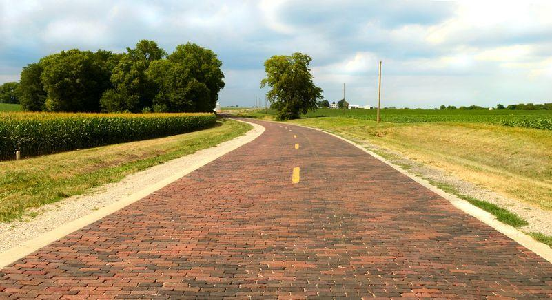<p>It's not the land of Oz, but this stretch of brick road in Auburn, Illinois is part of the original Route 66. </p>