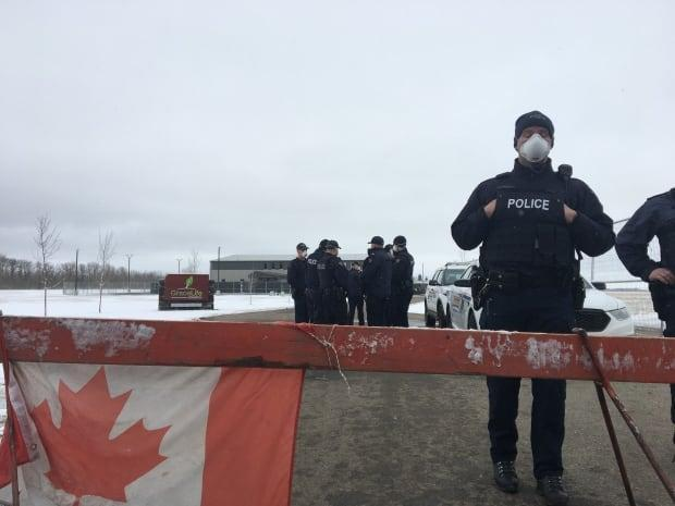 RCMP deployed additional officers during the demonstration at GraceLife Church on Sunday.
