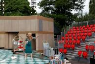 Performing open air has forced the Royal Shakespeare Company to adapt, with actors using microphones