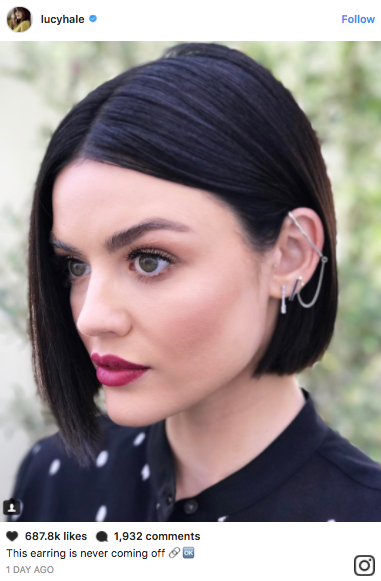 We talked to hairstylist Kristin Ess about Lucy Hale's new, super dark bob. It's the chicest look we've seen from the star.