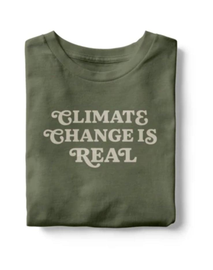<p>Climate activists will love this <span>Climate Change is Real T-Shirt</span> ($40).</p>
