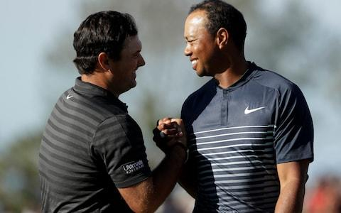 <span>Reed and and his Presidents Cup captain Tiger Woods are known to get on well</span> <span>Credit: AP </span>