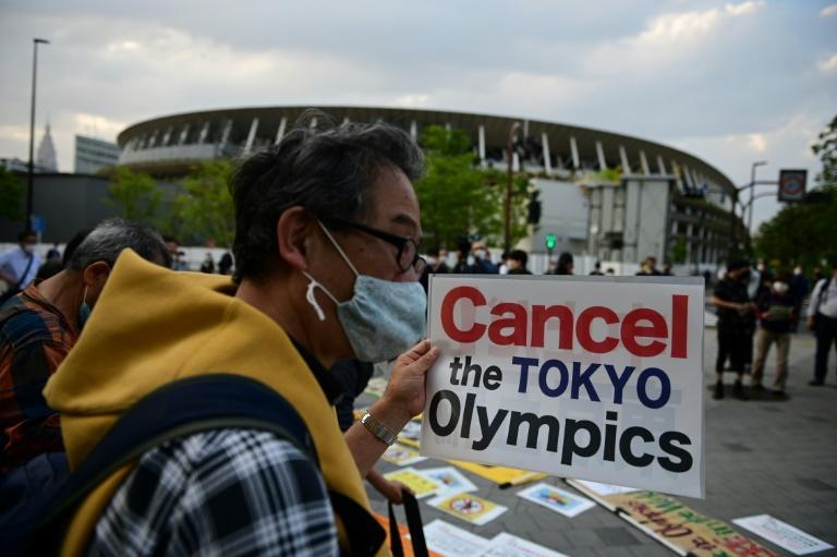 """More than 300,000 people have signed an online petition titled """"Cancel the Tokyo Olympics to protect our lives"""""""