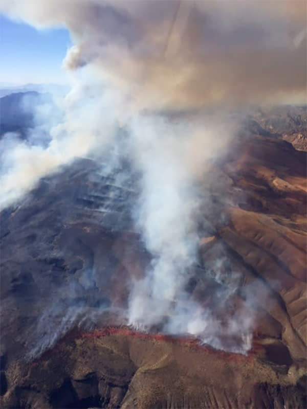 Image: Bishop Fire, Rainbow Canyon (Eastern Nevada Interagency Fire)