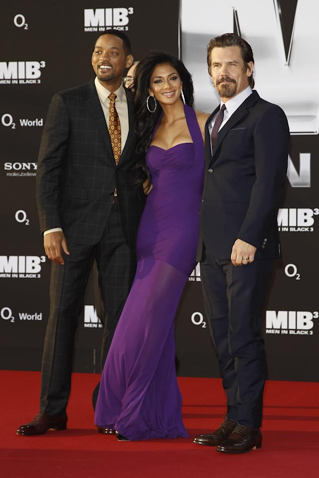 BERLIN, GERMANY - MAY 14:  (L-R) Will Smith, Nicole Scherzinger and Josh Brolin arrive for the Men In Black 3 Germany Premiere at O2 World on May 14, 2012 in Berlin, Germany.  (Photo by Andreas Rentz/Getty Images)
