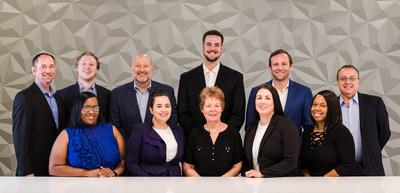 Standing:  Danny Collins (Director of Commercial Sales), David Melsheimer (Real Estate Analyst), Sam Feldman (Senior Advisor), Matthew Huhn (intern), Trey Rome (CEO & Founder), Dwayne Cooper (Controller); Sitting:  Bridget Jackson (Sr Loan Operations Manager), Michela D'Andrea (Executive Assistant and Office Manager), Mary Helen Moore (Loan Officer), Jennifer Stevenson (Commercial Loan Assistant), Dominque Dixon (Loan Processor); Missing:  Jenna Rome (Marketing Director), Victoria Zhao (Sr Accounting Analyst), Detric Taylor (Loan Processor-Accounting Analyst), Stephanie Collins (Customer Service Analyst), Cary O'Brien (intern)