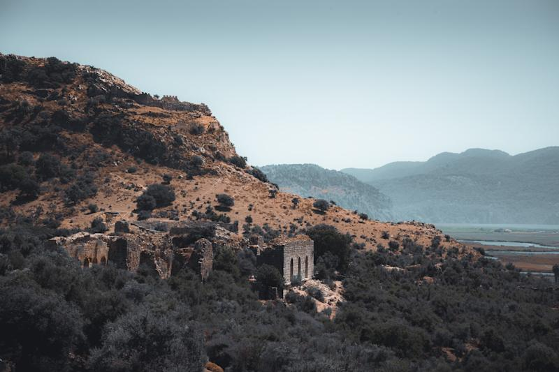 The ancient temple tombs near Dalyan - getty