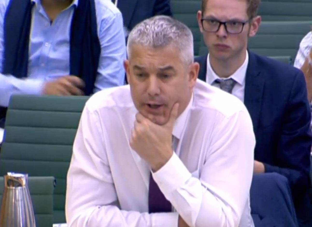Brexit secretary Stephen Barclay gives evidence to the Exiting the European Union Committee of MPs at the Palace of Westminster on the progress of the UK's negotiations on EU withdrawal.