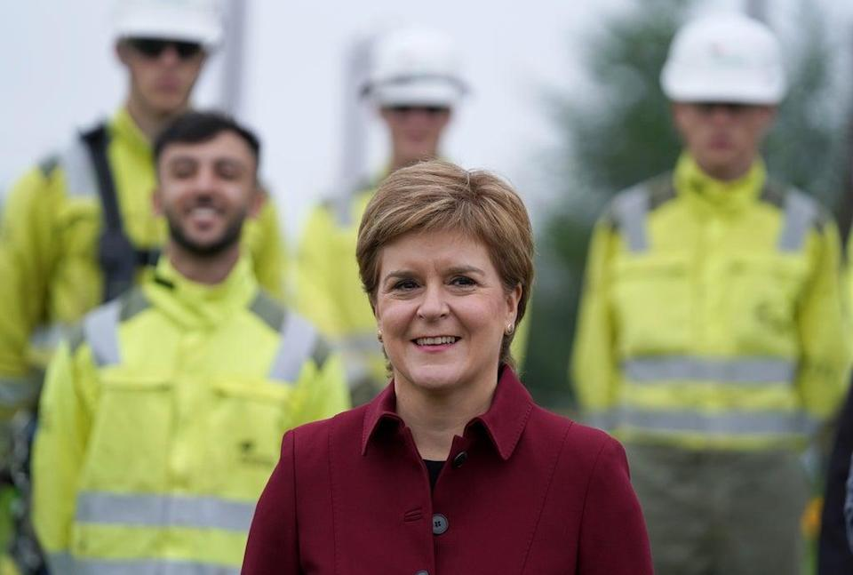 First Minister Nicola Stugeon during her visit to Scottish Power in Cumbernauld (Andrew Milligan/PA) (PA Wire)