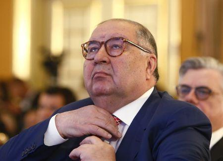 FILE PHOTO: Russian businessman and founder of USM Holdings Alisher Usmanov attends a session during the Week of Russian Business, organized by the Russian Union of Industrialists and Entrepreneurs (RSPP), in Moscow, Russia March 16, 2017. REUTERS/Sergei Karpukhin