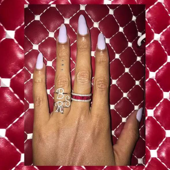 Beyonce Rings With Kids' Initials