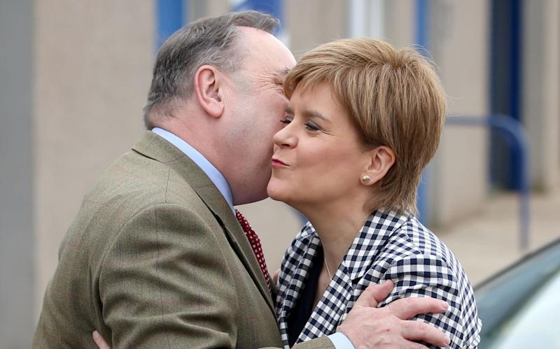 Nicola Sturgeon and Alex Salmond campaigned together in Aberdeenshire - PA