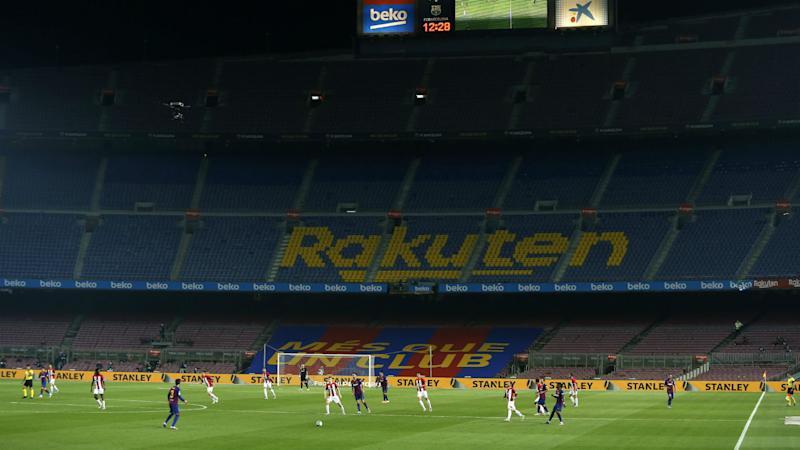 Barcelona place 3,000 shirts on seats for Atletico clash