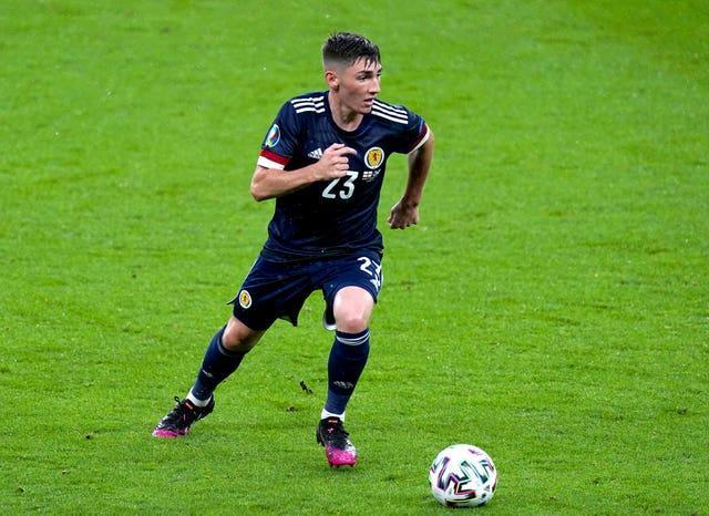 Scotland's Billy Gilmour shone against England but has since tested positive for coronavirus